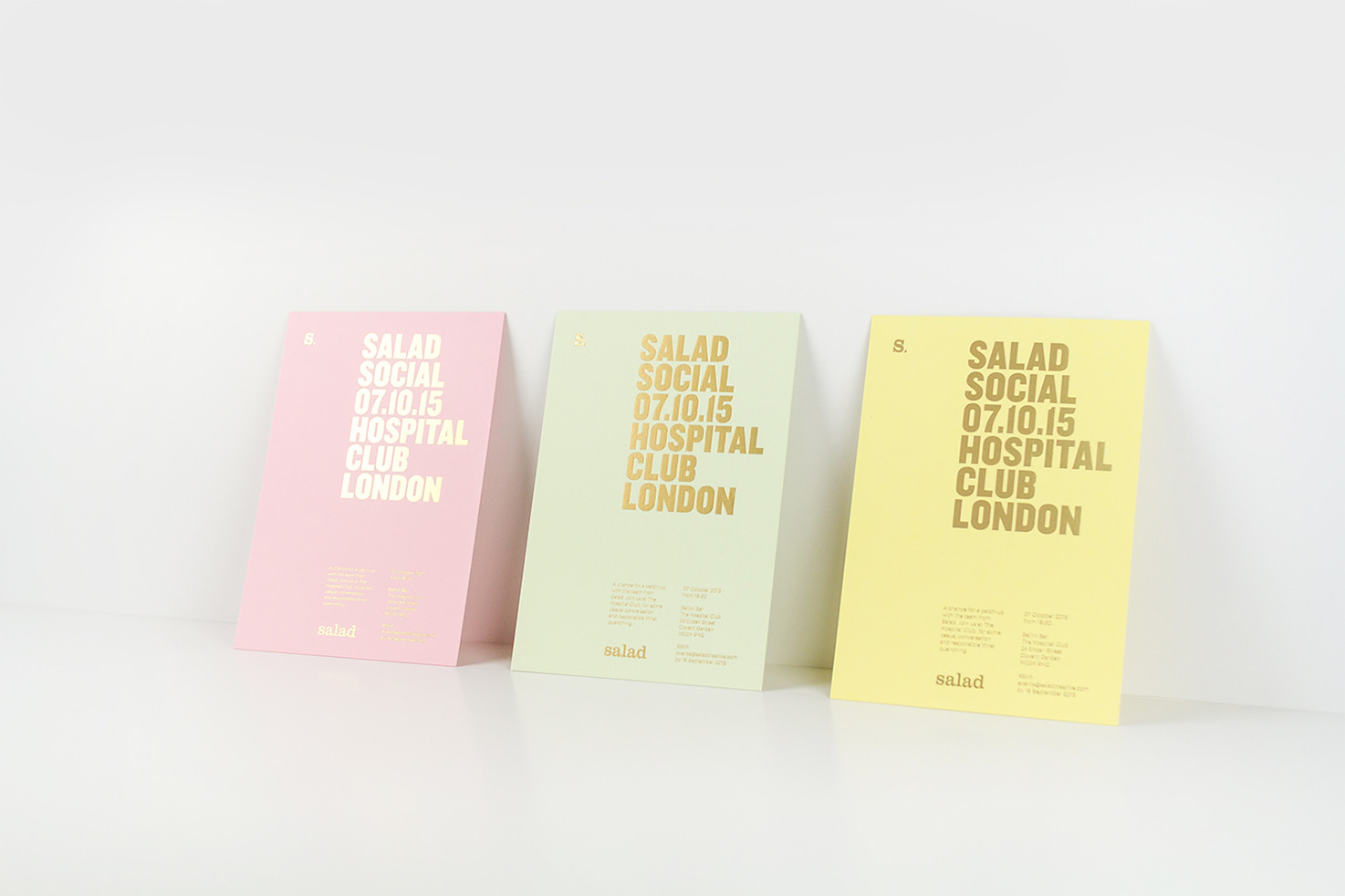 Salad business cards