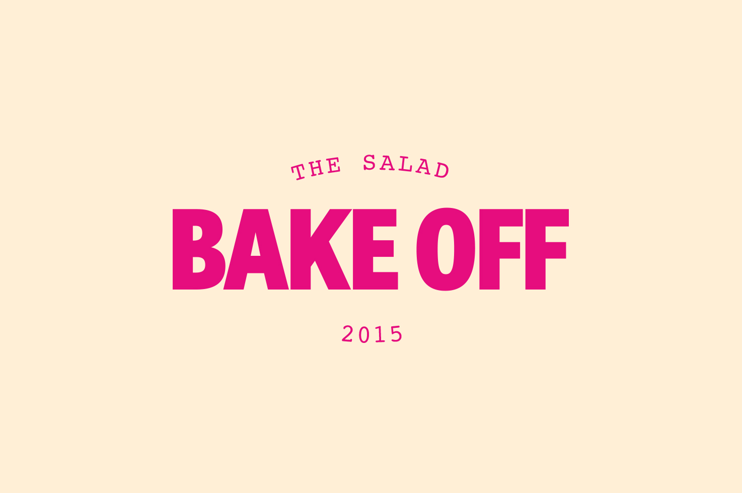 The great Salad Bake Off 2015