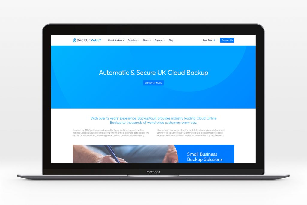 Doubling new business enquiries for BackupVault